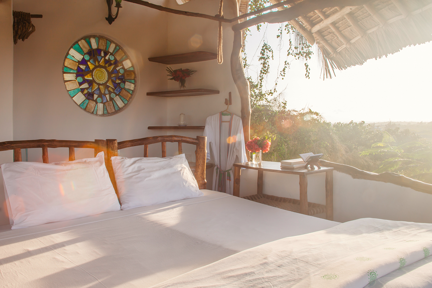 Baobab suite - the perfect escape - and views of the mangrove estuary.