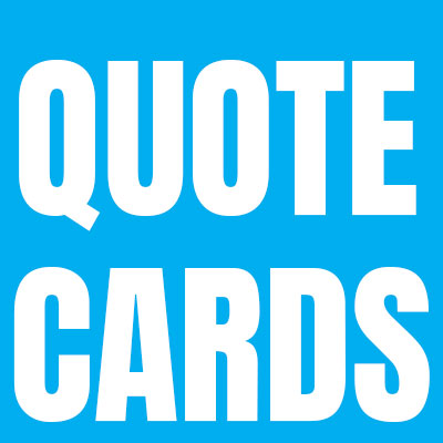 Quotations - Typographic Cards