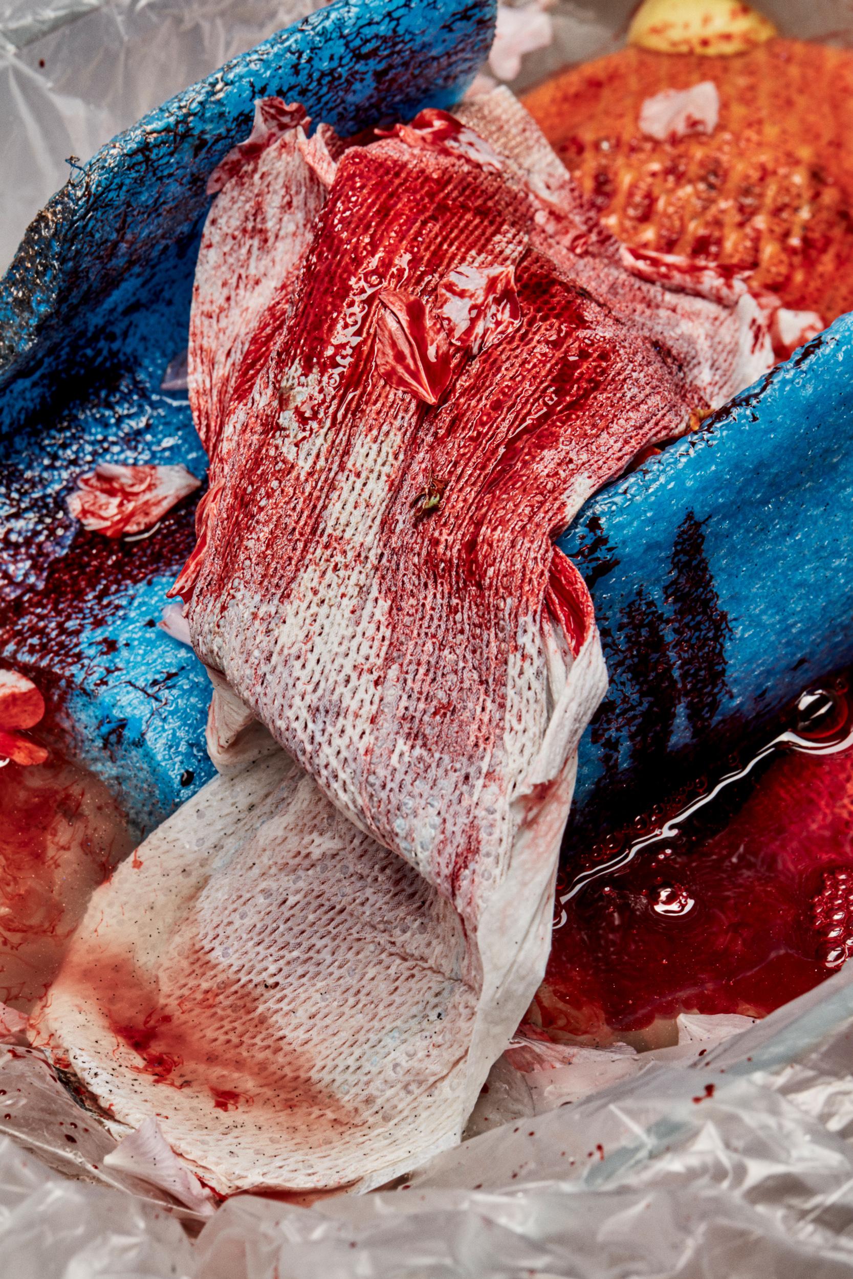 Bleeding into the Ocean (Equals 4 Plastic Bags)