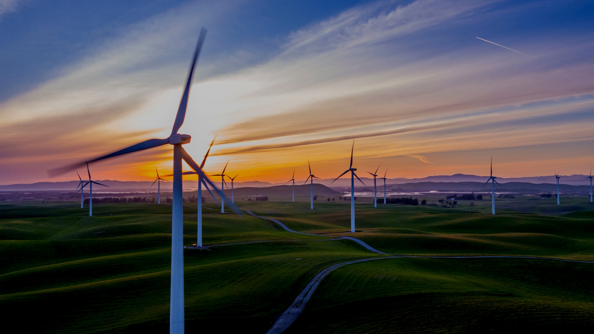 Wind driven renewable energy and storage -