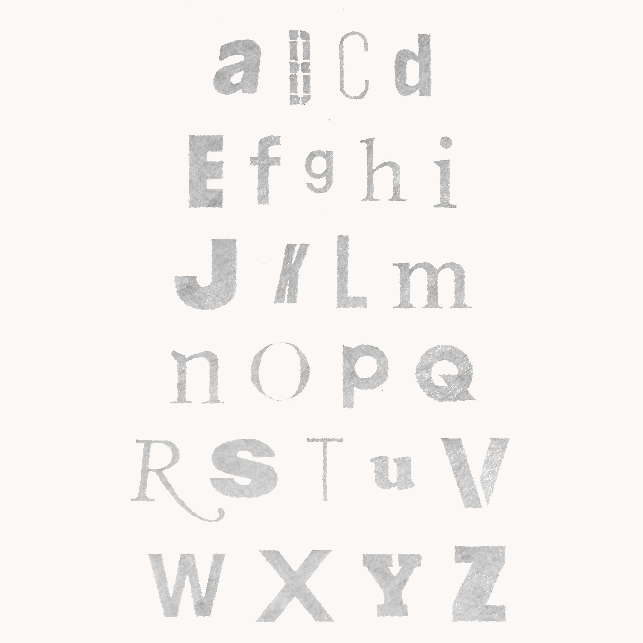 Design by Mils Found Alphabet 02