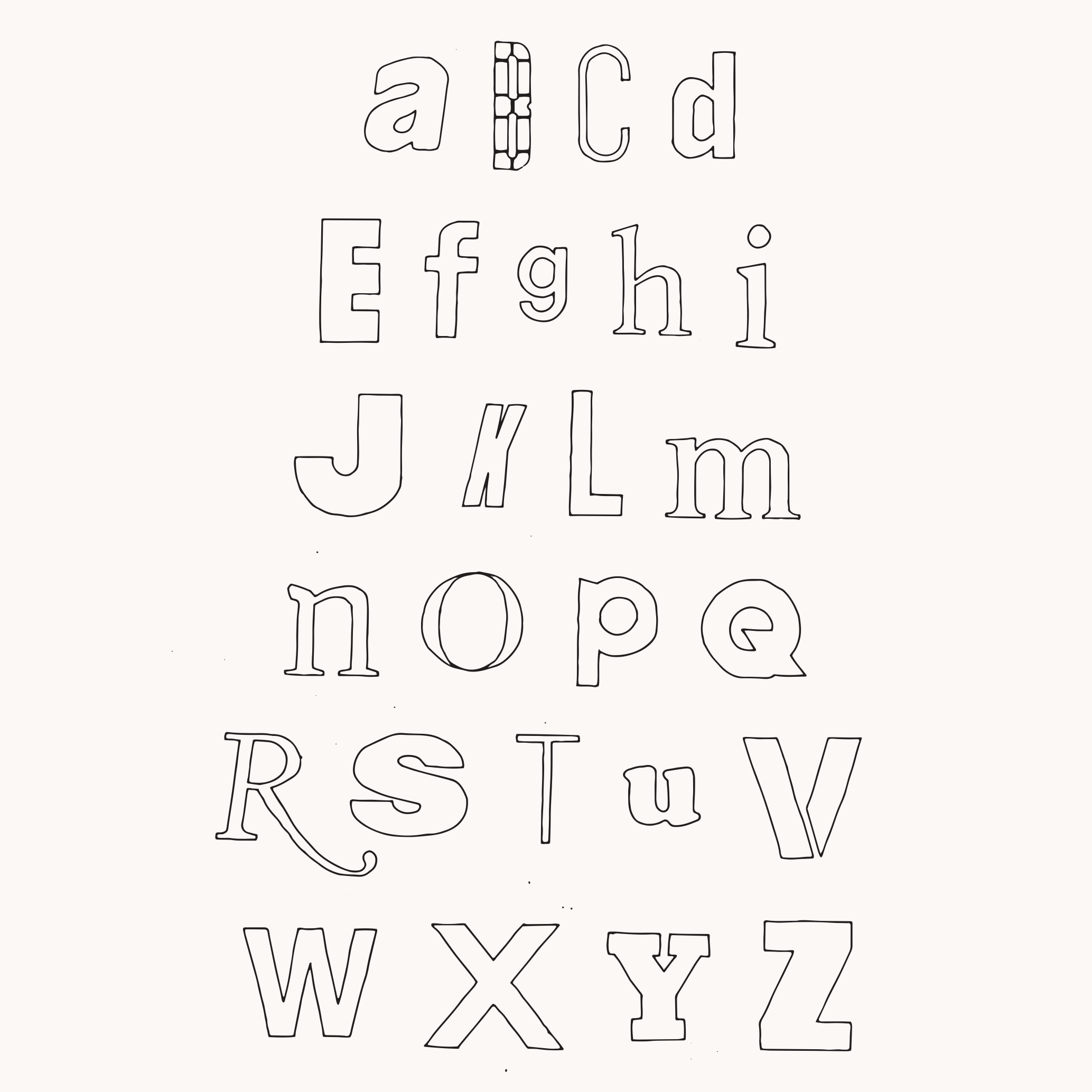 Design by Mils Found Alphabet 03
