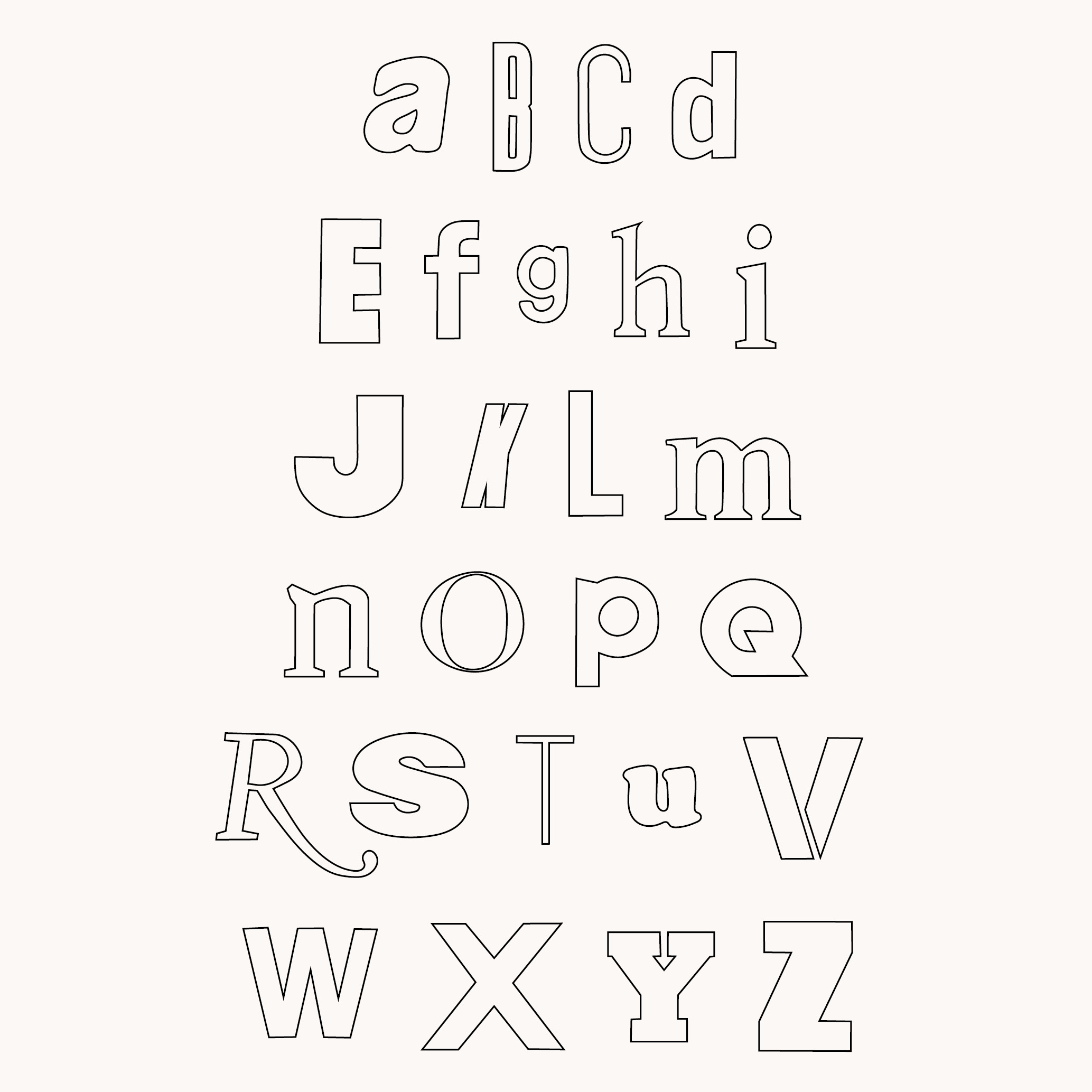 Design by Mils Found Alphabet 04
