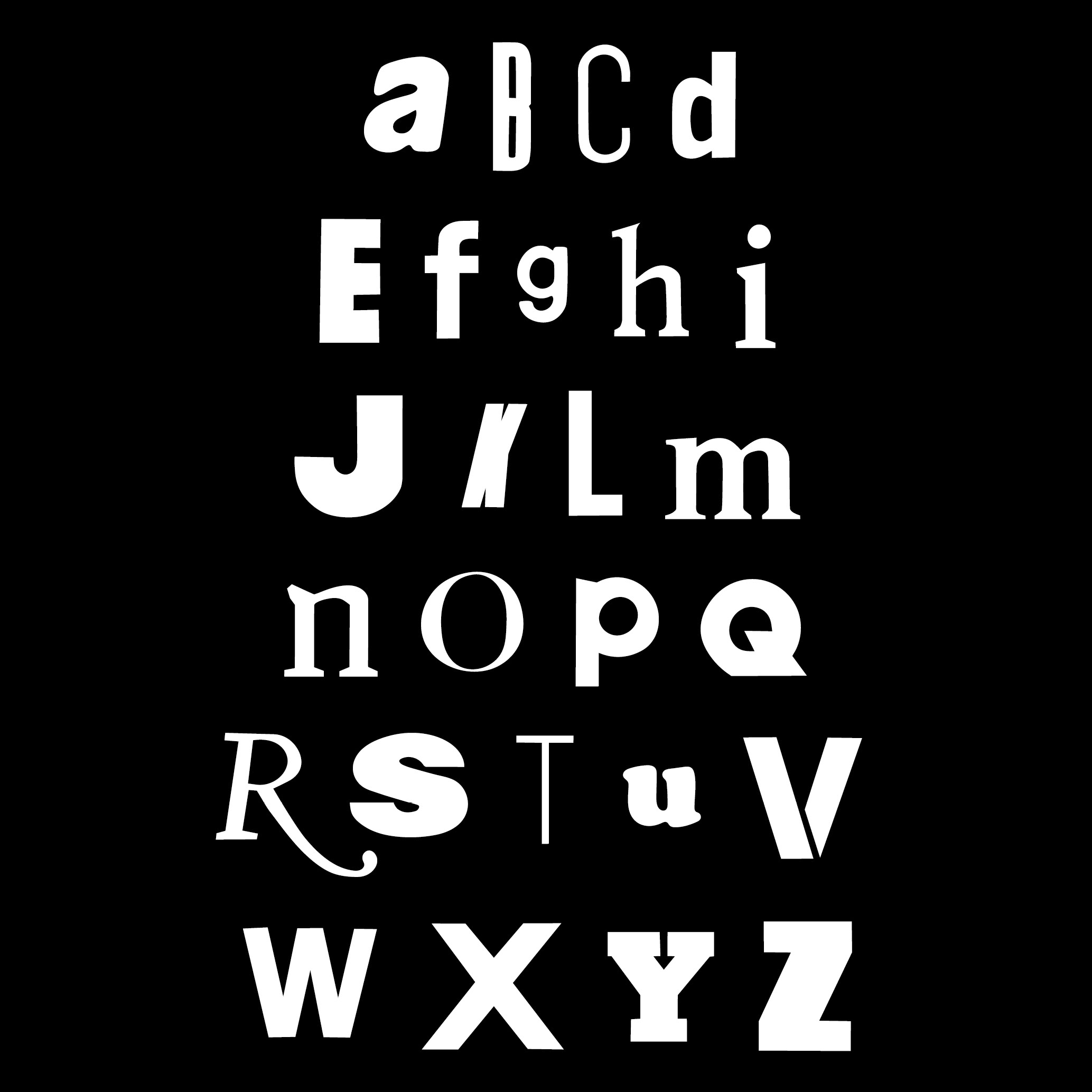Design by Mils Found Alphabet 01