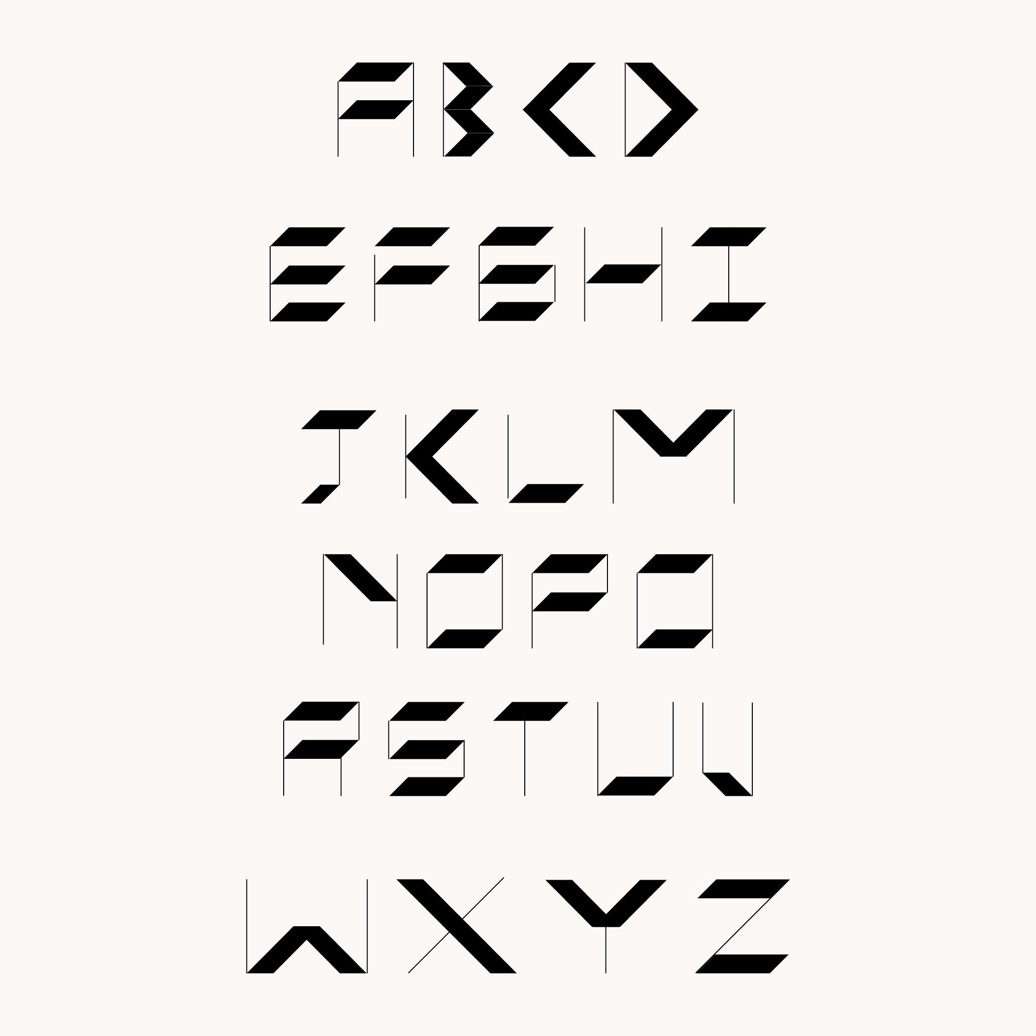 Design by Mils Modular Alphabet 01