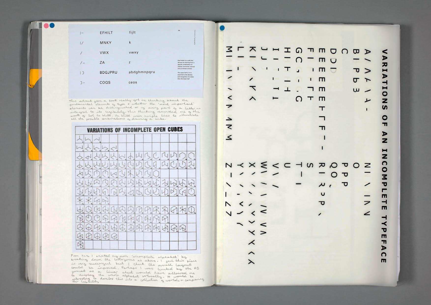 Design by Mils Sol Le Witt Sketchbook Page