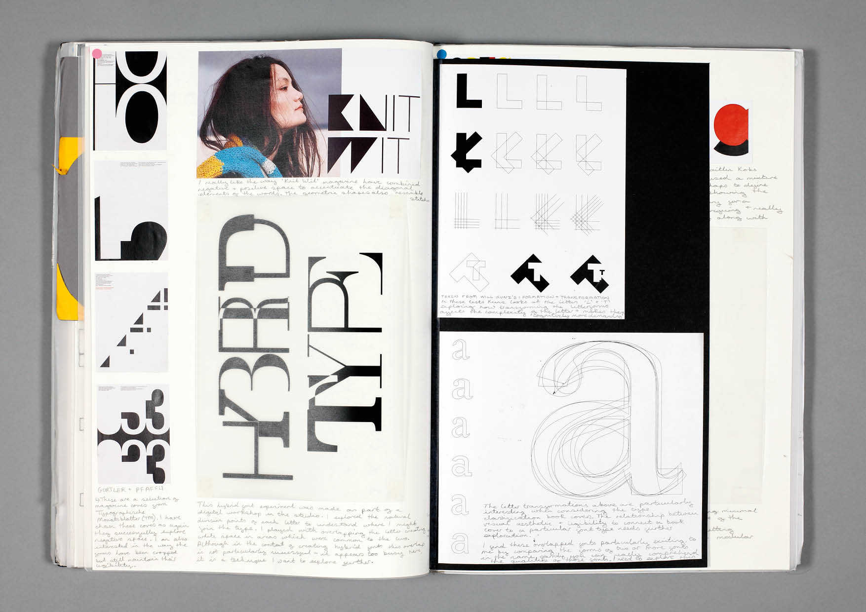 Design by Mils Hybrid Font Sketchbook Page
