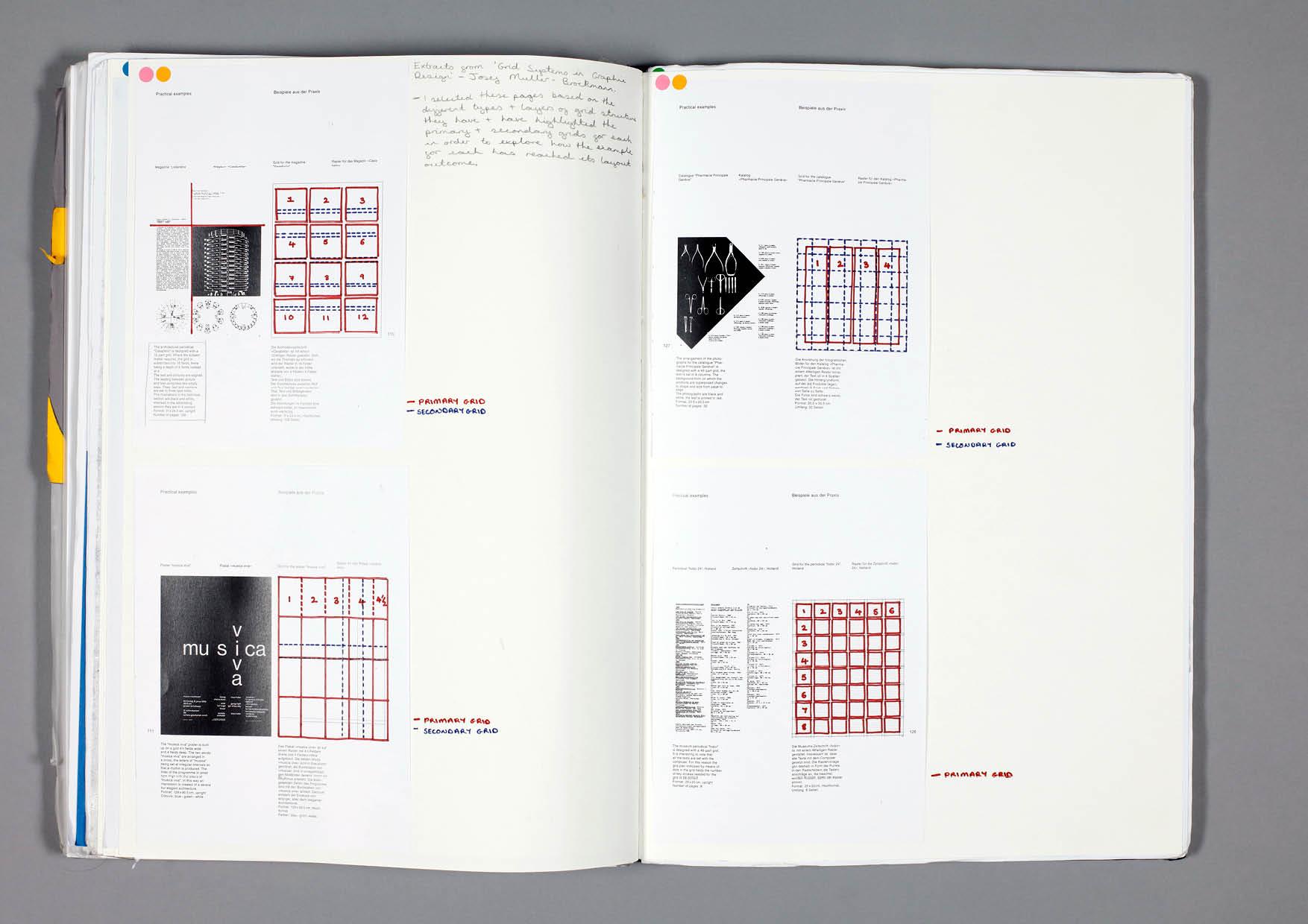 Design by Mils Grid Sketchbook Page