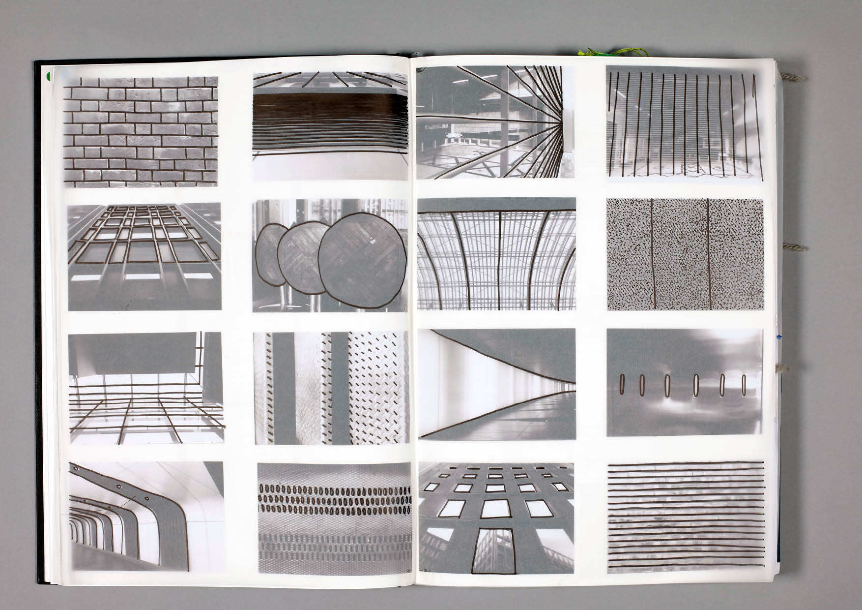 Design by Mils Architecture Shapes Sketchbook Page