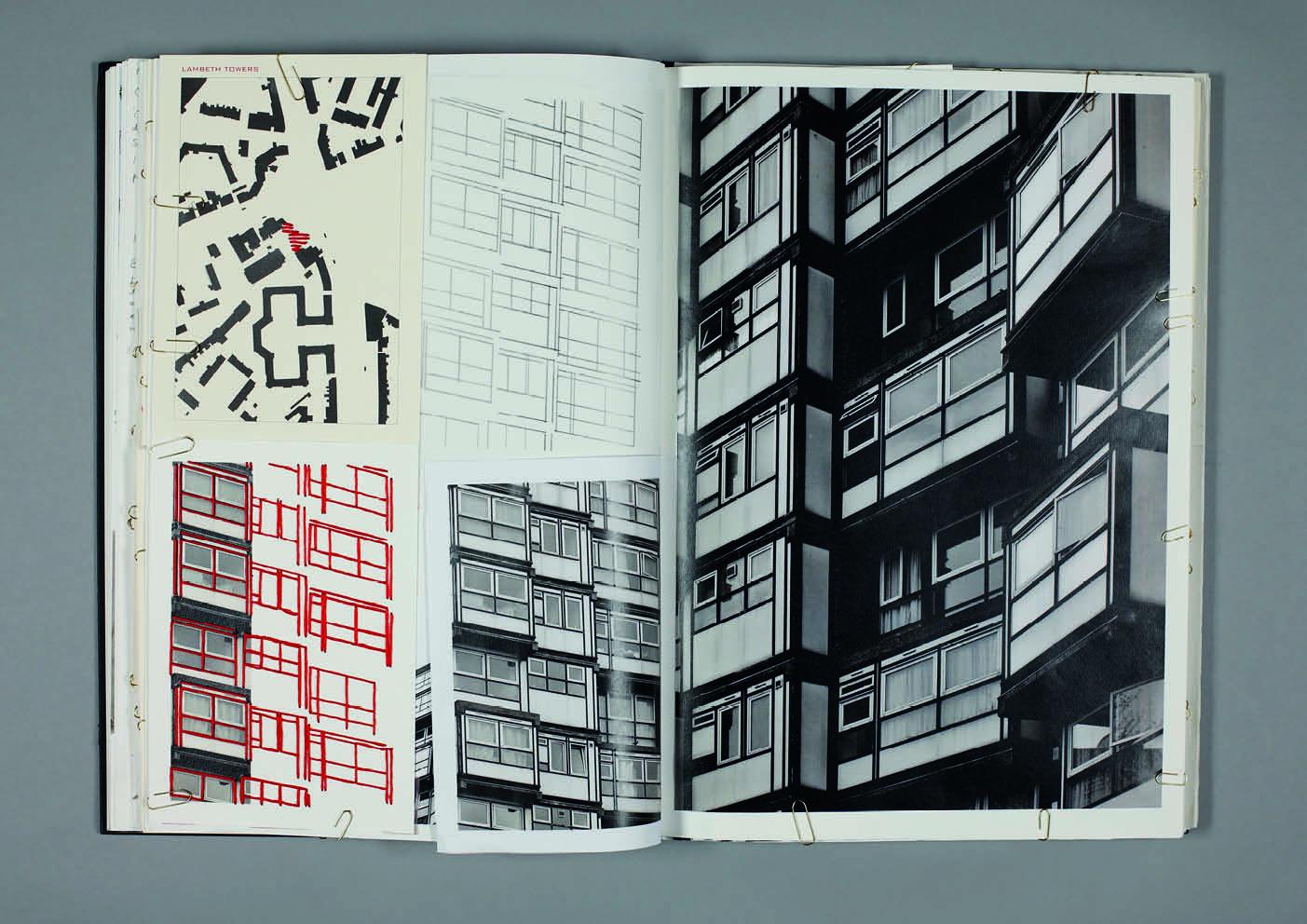 Design by Mils Brutalist Embroidery Sketchbook Page