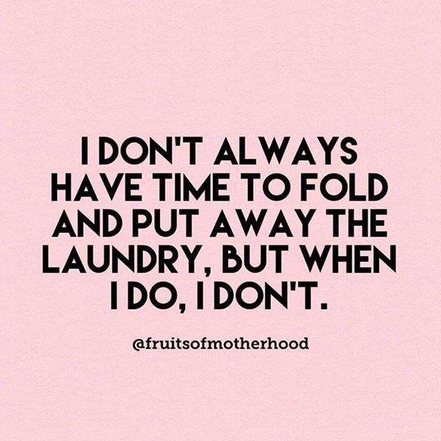 😂 @fruitsofmotherhood #laundryday #ornot #laundryproblems 🧺