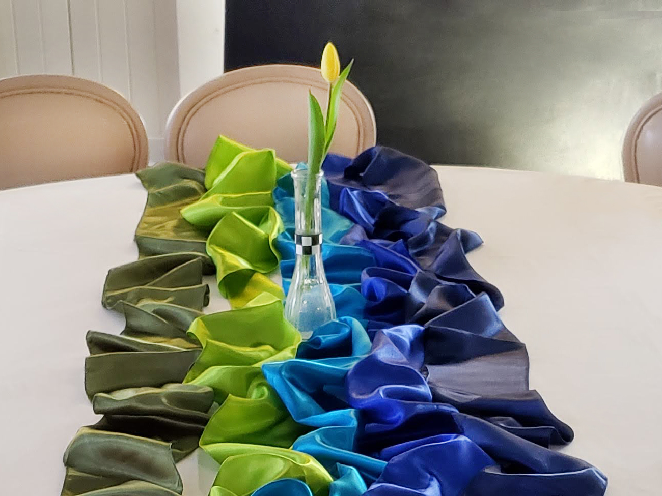 Bud Vase (Clear Glass) & Table Ribbons