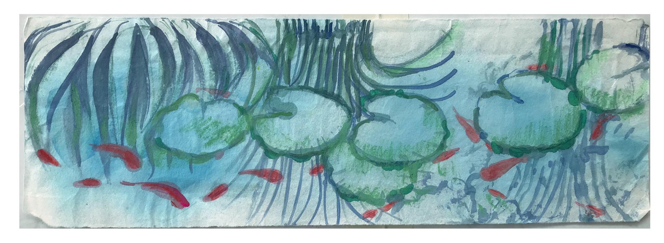 Pond and Koi Sketch