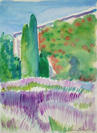 Tuscan Landscape with Lavender