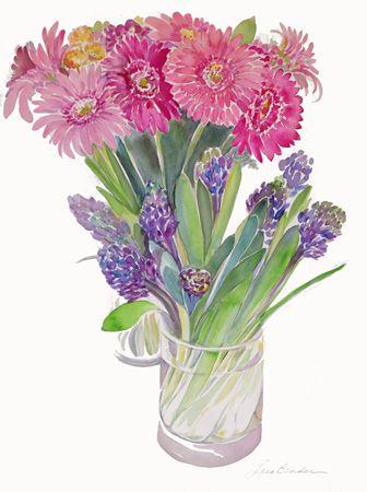 """""""Spring Hyacinths and Gerbers II"""""""