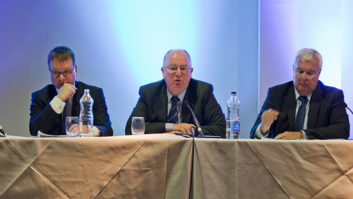 John Larkin, Dr Michael Maguire and Dave Cox