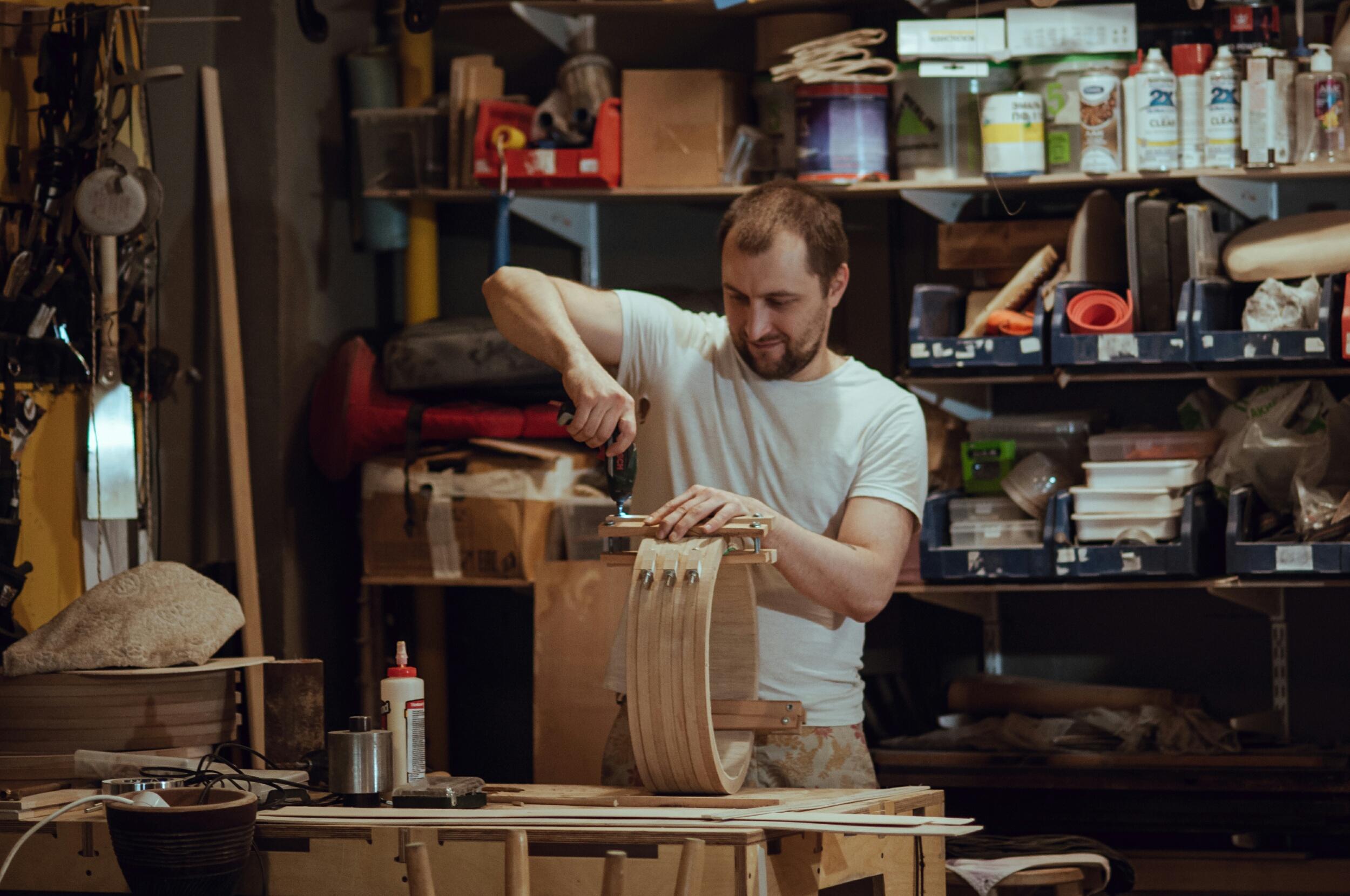 Коллеги изготовили мне на ЧПУ цулаги - разъёмные формы для сборки корпуса арфы