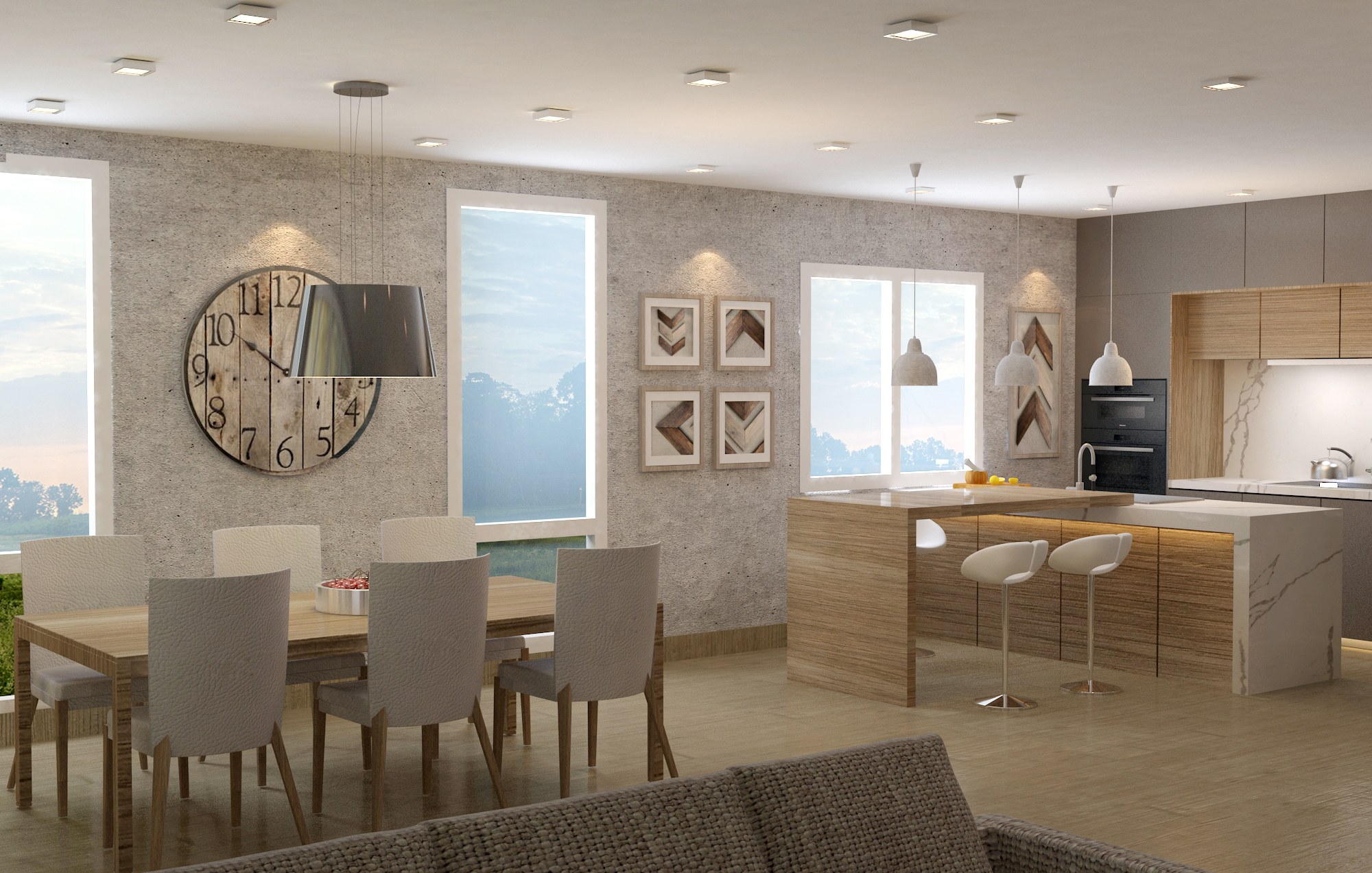 Kitchen &Living Space -