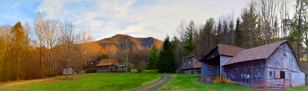 Nestled high in the Blue Ridge Mountains, 70 Acres Studio is in the very Northwest corning of North Carolina on the North face of Phoenix Mountain in Ashe County.