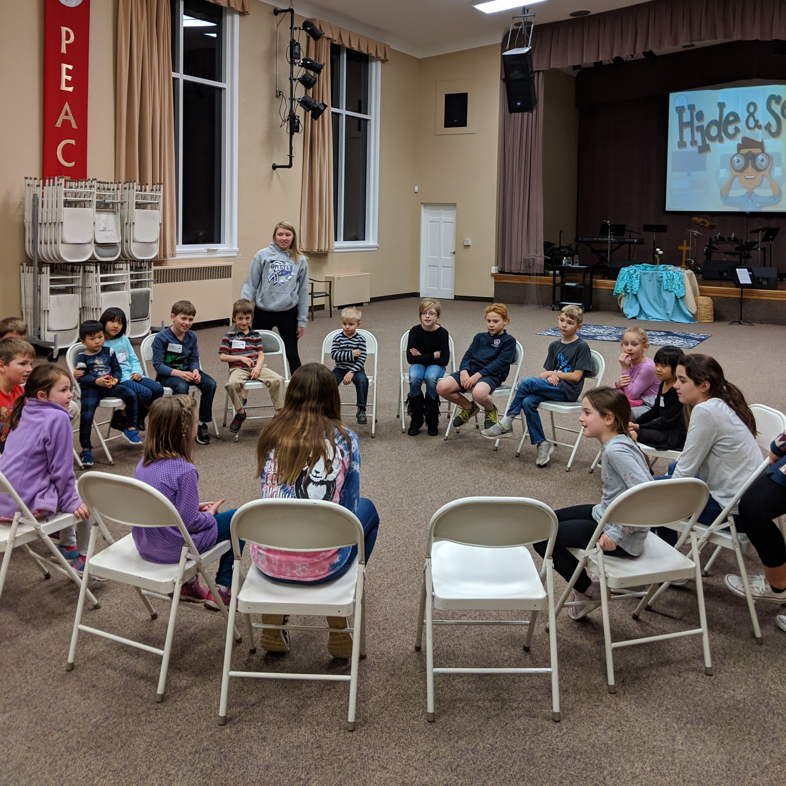 cave kids club - Wednesday evenings at 6:00 PMAges 3 years -5th grade. On most nights children will be divided into preschool and elementary groups. We will continue to use our curriculum to reinforce the stories and lessons we are learning on Sunday mornings.