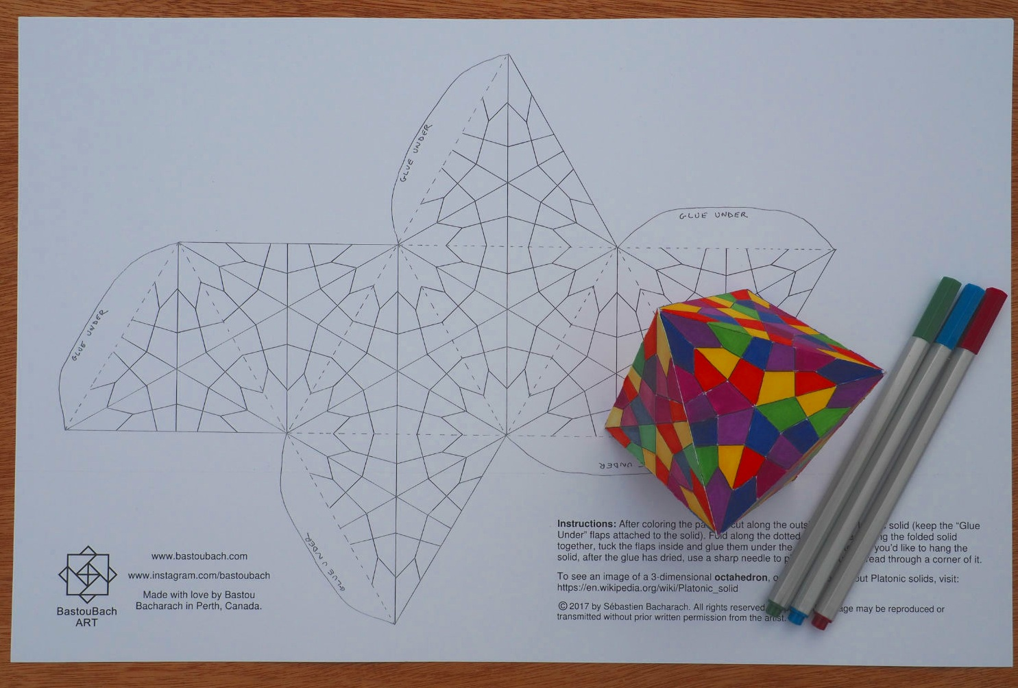Stained Glass octahedron