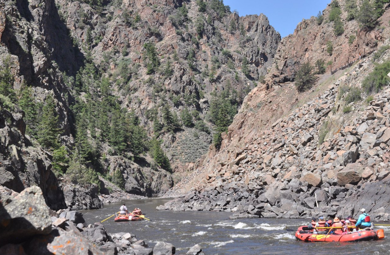 Ride through Rocky Mountain National Park on your way to raft the beautiful Upper Colorado River with Rapid Transit Rafting