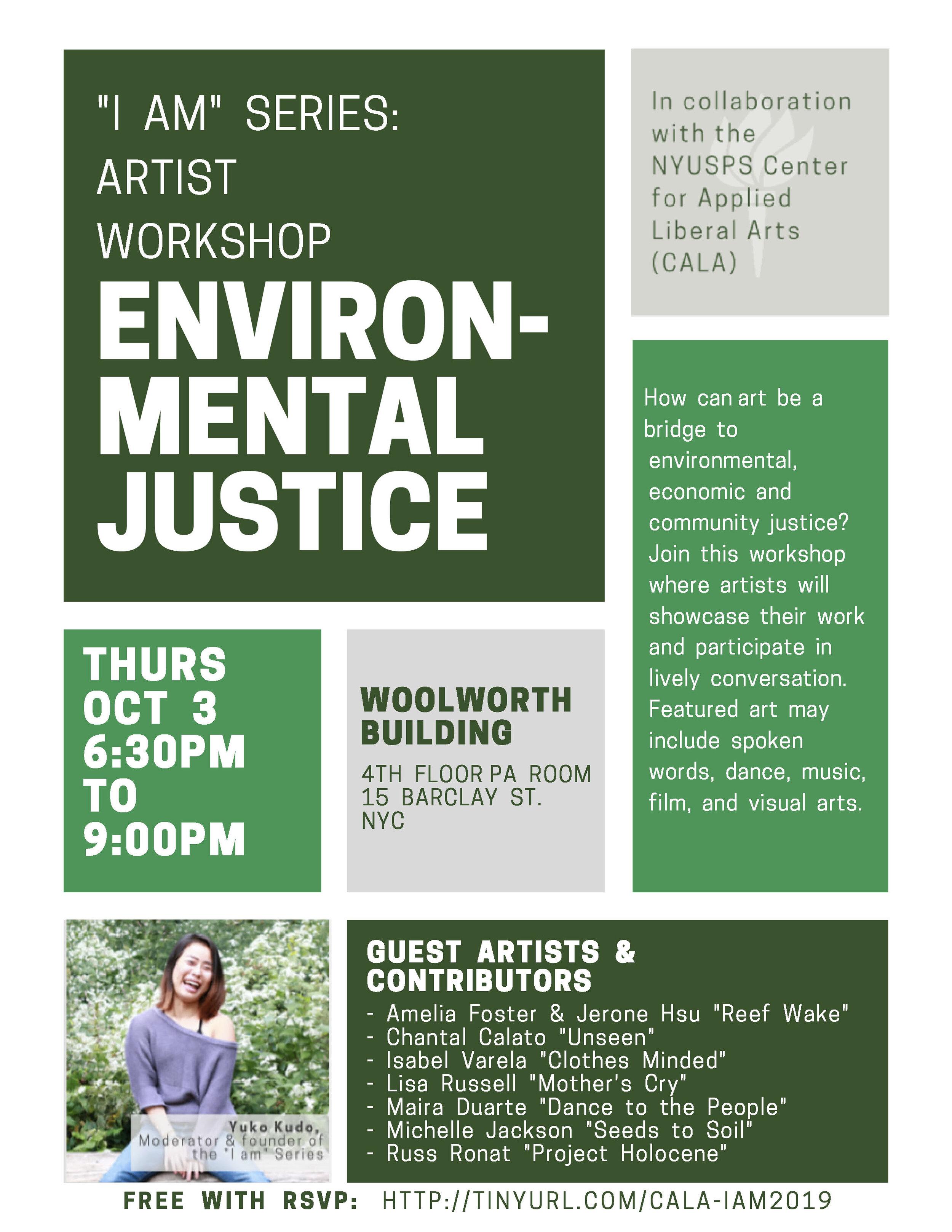 ENVIRONMENTAL JUSTICE WORKSHOP at NYUOctober 3rd6:30-9PM - RSVP HERE