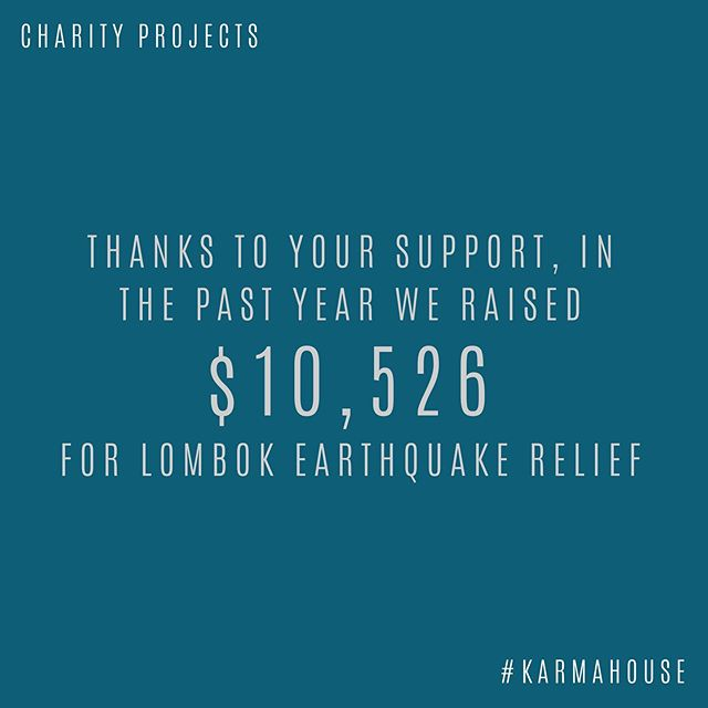 ❖ #KarmaHouse Charity Projects ❖  We love to share with you the amazing support we have been able to provide to these charity projects throughout the past year of business!  #charitywork #karmahousecharityprojects #ubud #bali