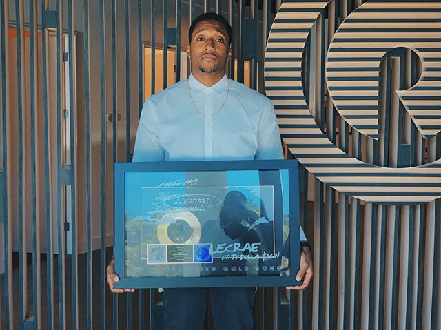 Congratulations! Today @lecrae received his @riaa_awards Certified Gold plaque for #Blessings. A huge accomplishment that wouldn't be possible without you, The Unashamed!