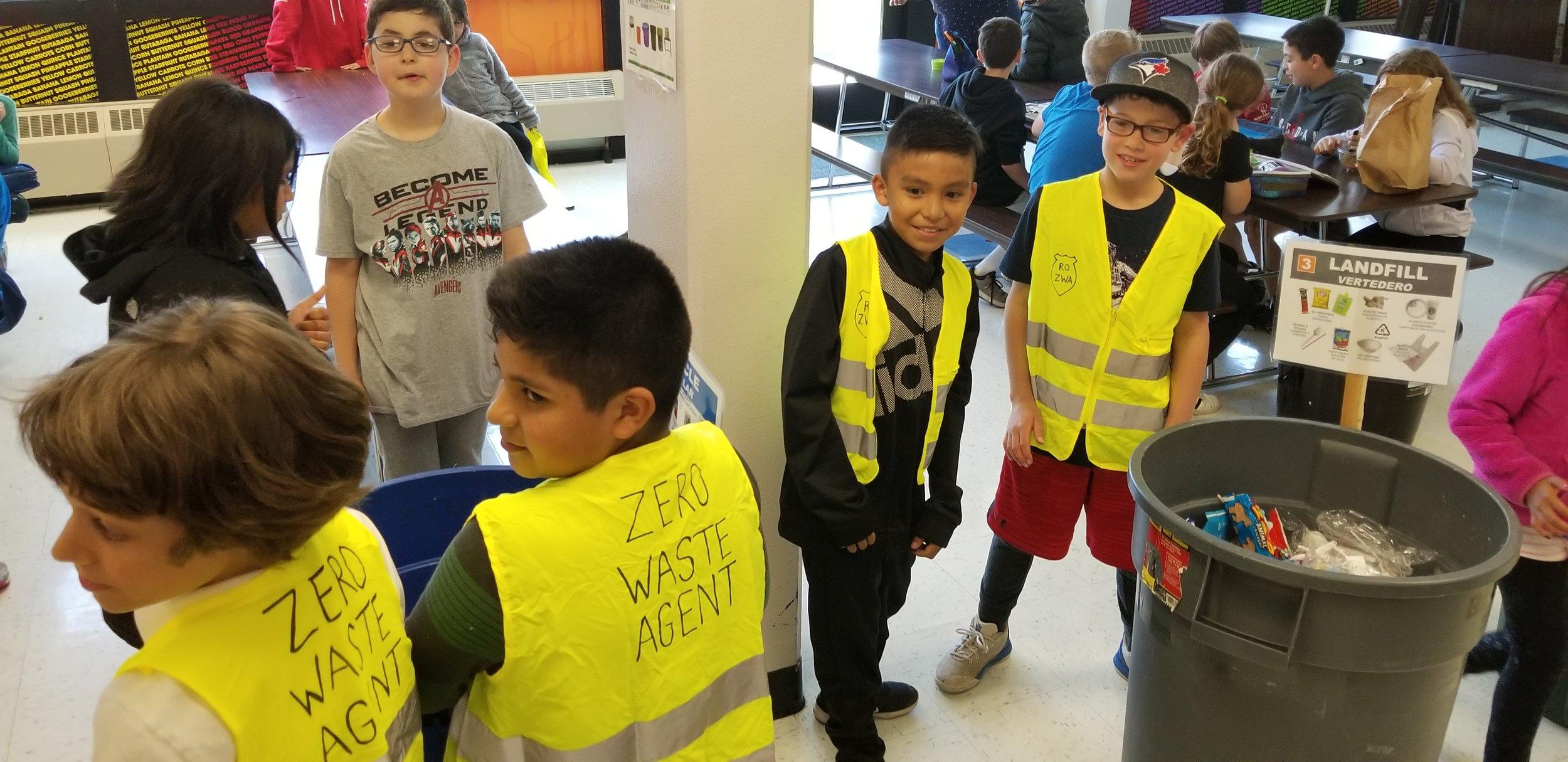 Zero Waste Agents help kids sort waste and prevent contamination in bins.