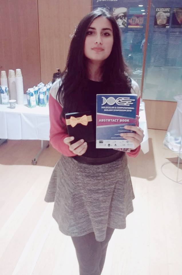 Remsha at the Conway Institute with her prize