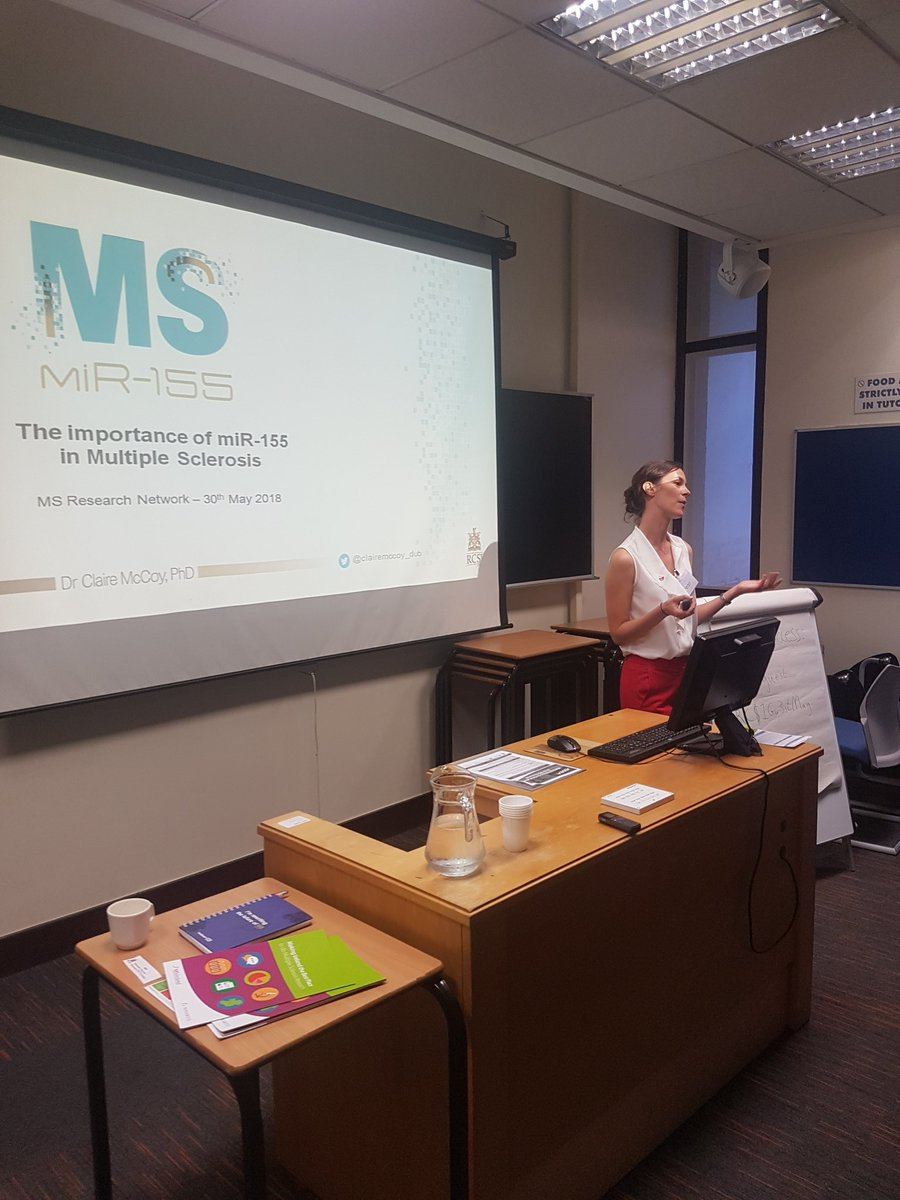 Dr. Claire McCoy explaining the importance of miR-155 in MS on world MS day