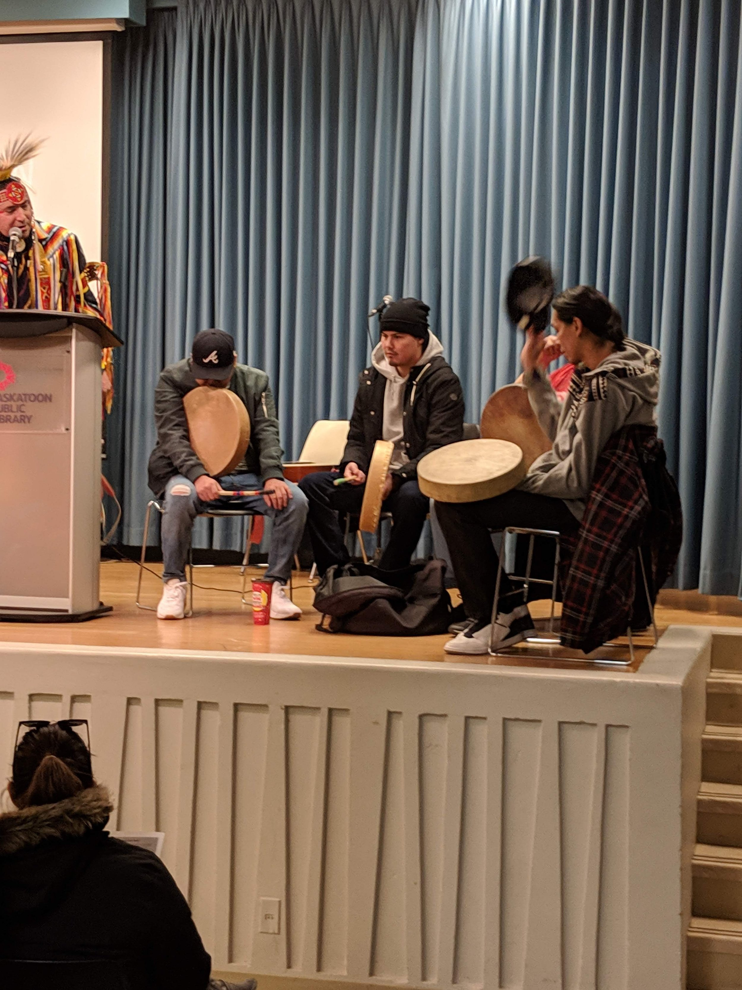 Drum circle sponsored by Saskatoon Tribal Council