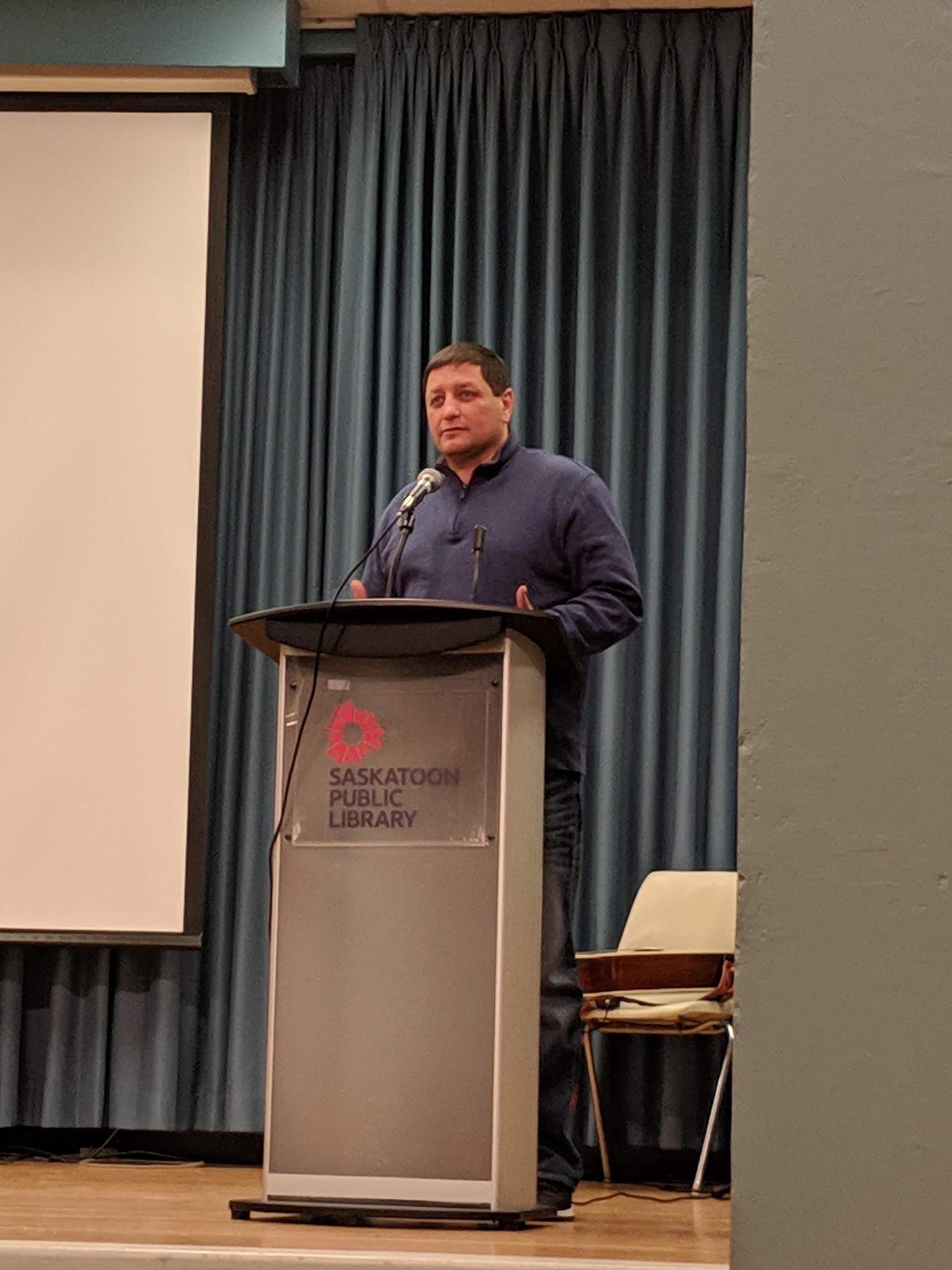 Saskatoon Tribal Council Chief, Mark Archand