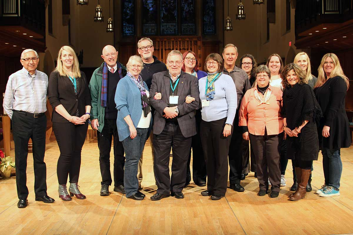 (front row, left to right):  Ms. Cynthia Haines-Turner The Very Rev. Peter Wall The Rev. Dr. Lynne McNaughton Ms. Heidi Wilker Ms. Becky Boucher  (not pictured):  Ms. Lisa Barry Ms. Josie De Lucia    (back row, left to right):  The Rt. Rev. Sidney Black Ms. Meghan Kilty The Very Rev. Peter Elliott The Ven. Dr. Michael Thompson Ms. Shannon Cottrell The Ven. Douglas Fenton Ms. Angela Chorney Ms. Siobhan Bennett The Rev. Martha Tatarnic Ms. Laura Walton    Header photo by  Thom Quine   CC BY 2.0  / Wikimedia