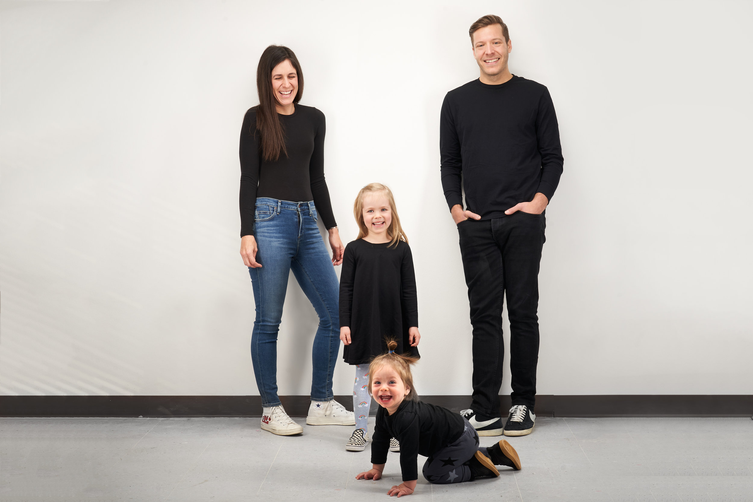 Studio Session - A portrait session, comparable to a magazine cover. The traditional look of a family portrait, perfect for the extended-family to crash.