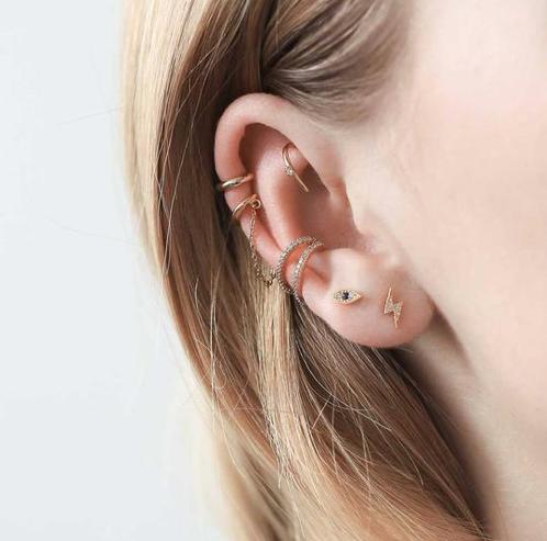 Ear Party featuring delicate earrings by Maison Miru