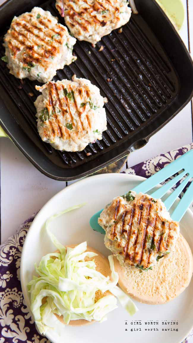 Paleo Thai Chicken Burgers