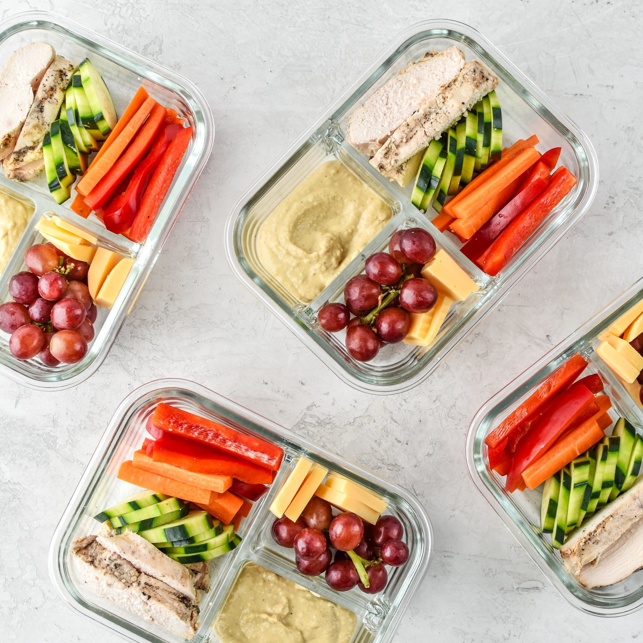 Prep That Lunch - If your mornings are anything like ours, making school lunches can often feel like an afterthought. That's why I love this make-ahead chicken-hummus bento from Project Meal Plan. You can make it the night – or even a few days before – to create a little space for yourself in the AM.