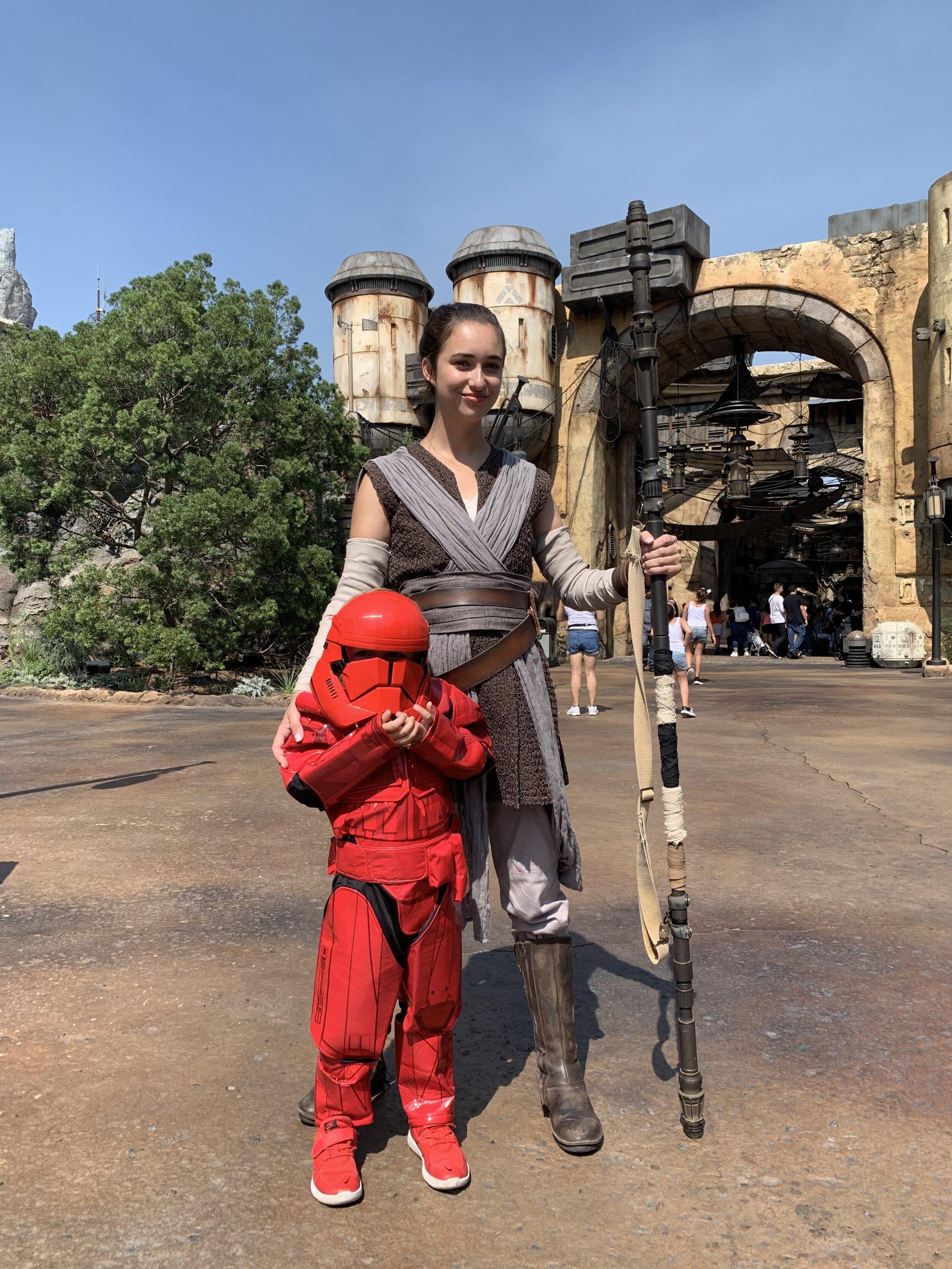 James in costume at Disneyland. 😂