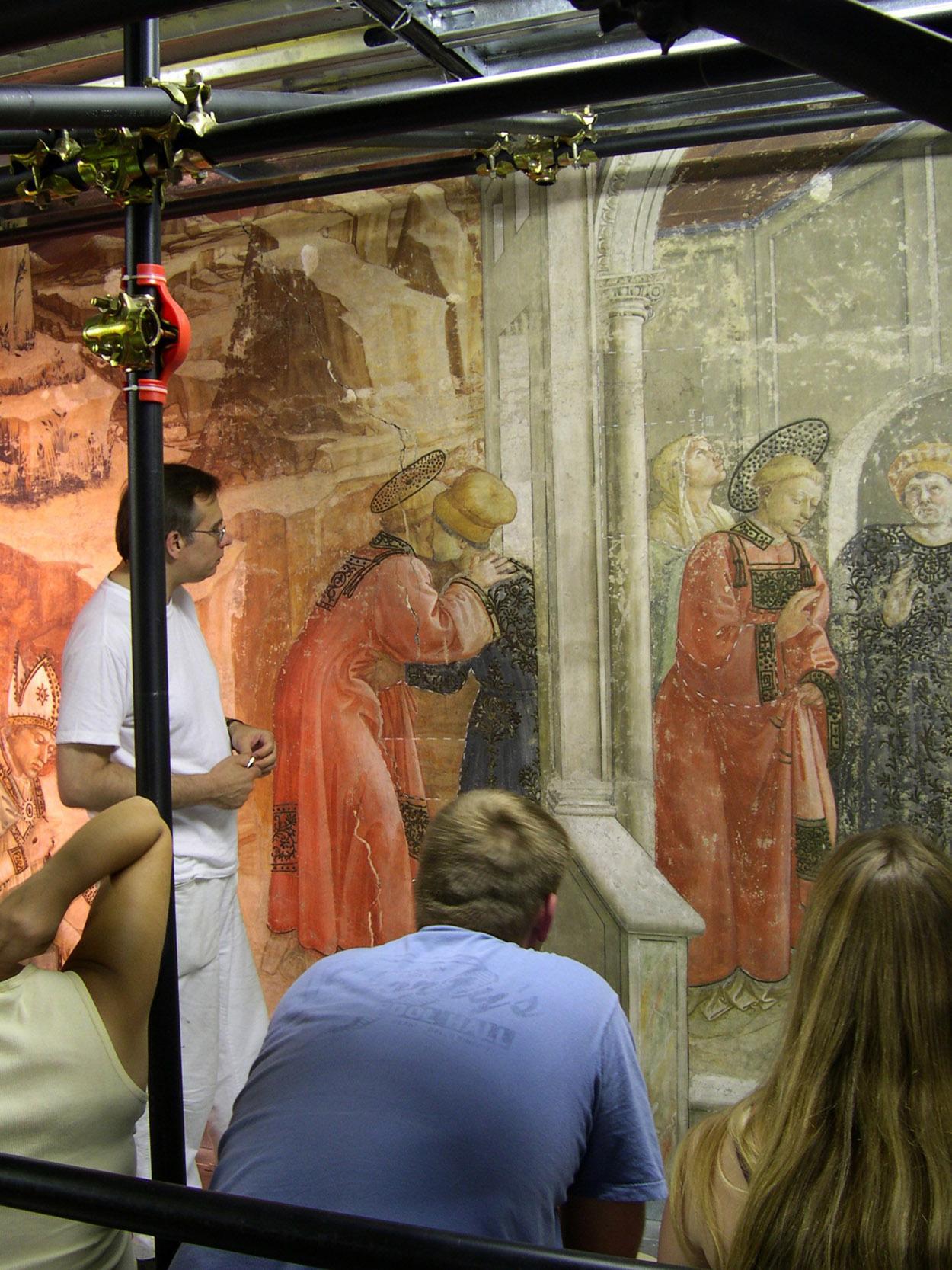 Prato, Duomo- Mark Gittins, Visit to restoratio of frescos of Filippo Lippi