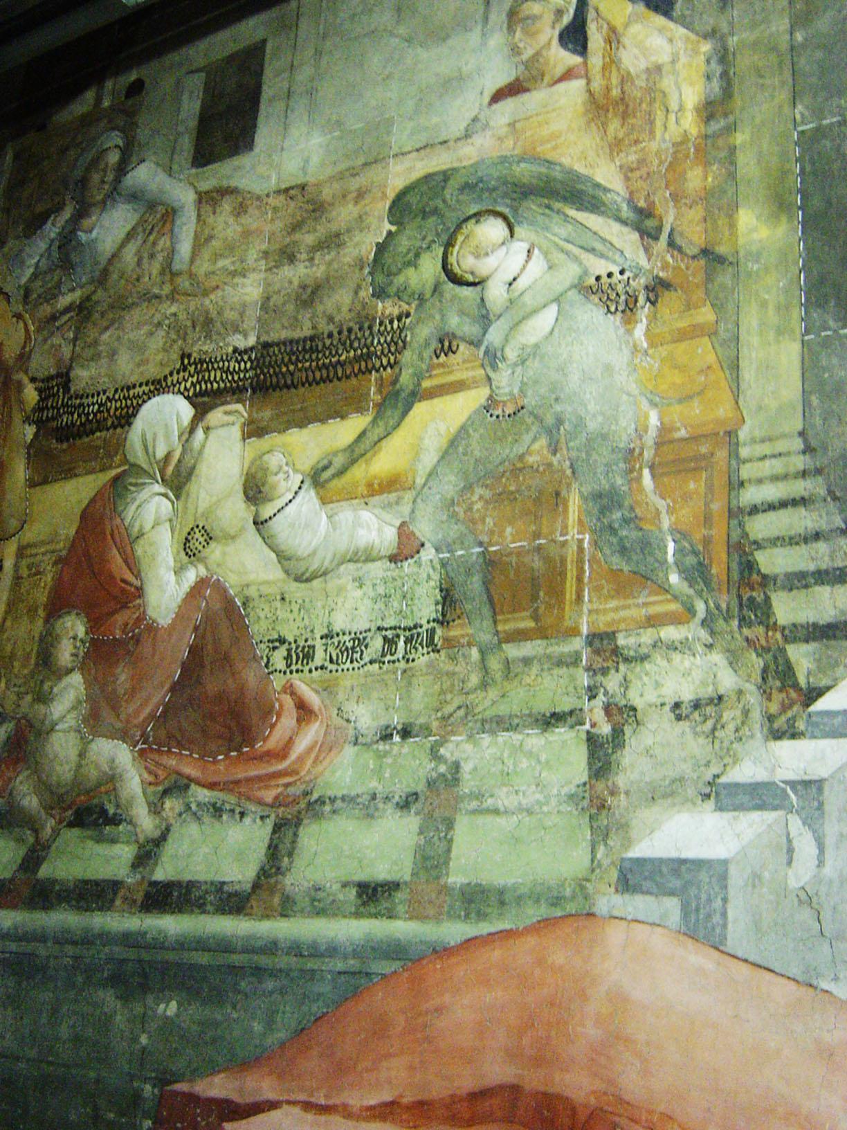 Prato, Duomo - Visit to restoratio of frescos of Filippo Lippi