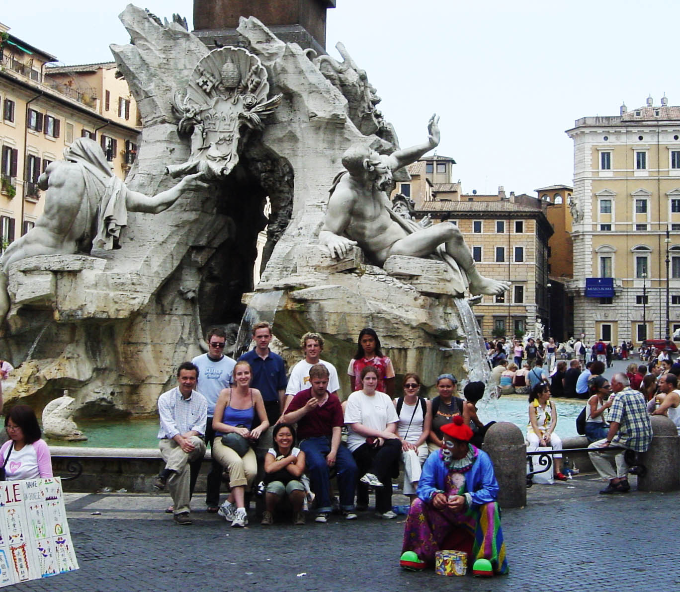 Rome, Pz. Navona - Fountain of the Four Rivers