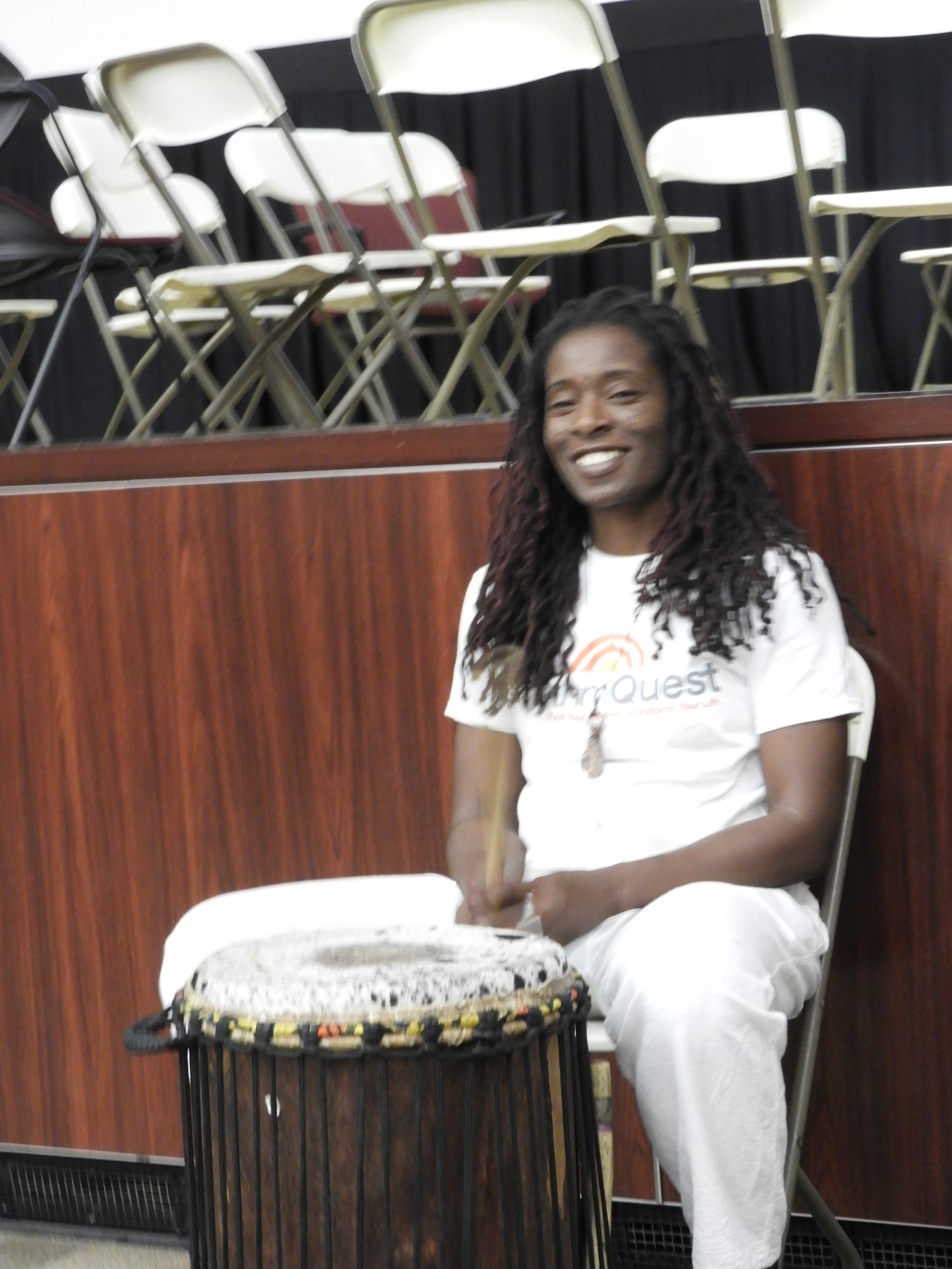More drumming to celebrate at the end of the conference