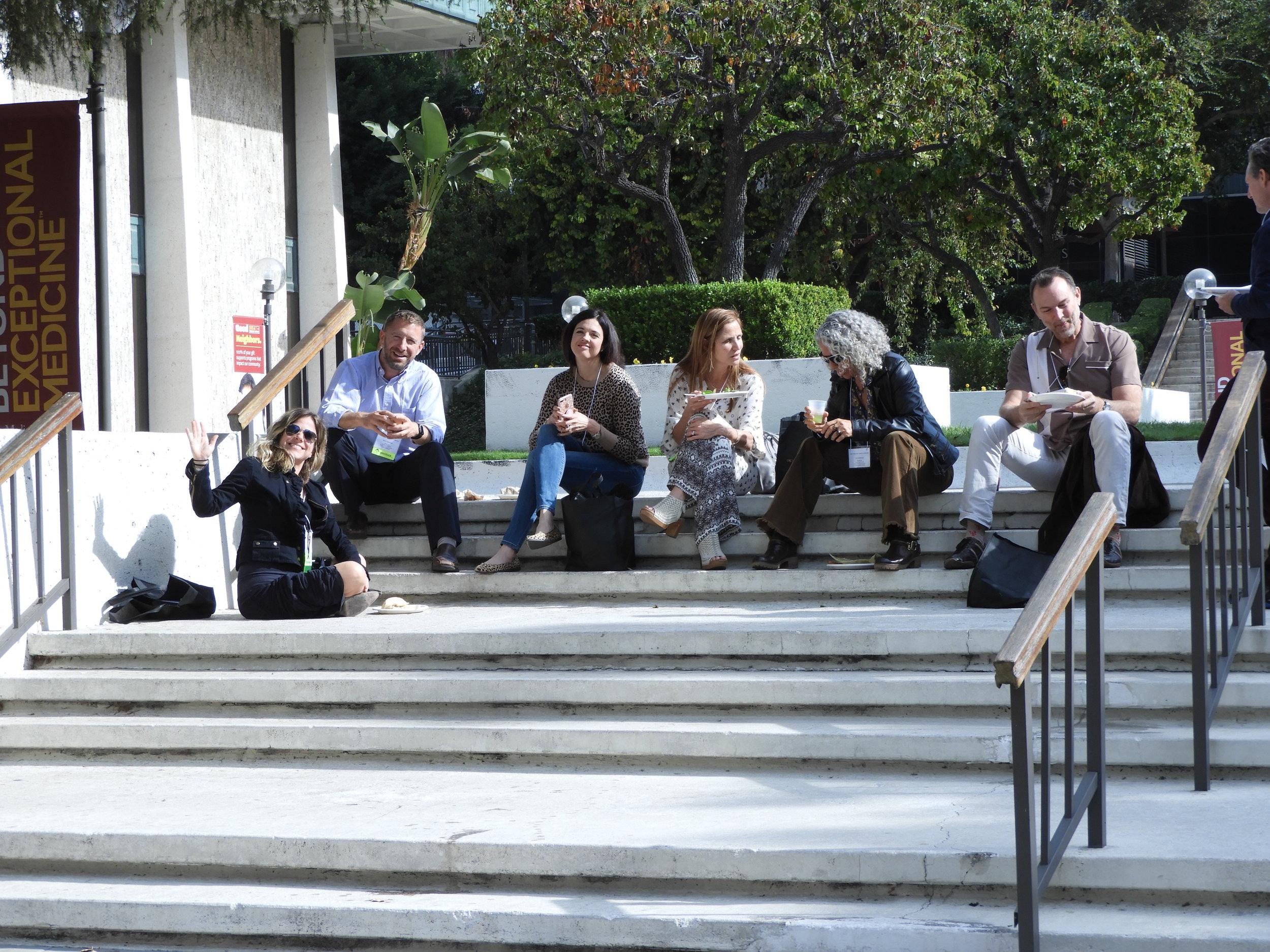 Break time outside in beautiful LA