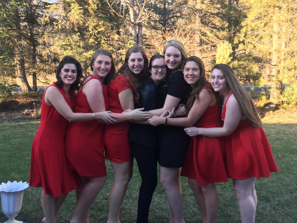 Some of our lovely sisters and Alumnae at Red Dress Gala !
