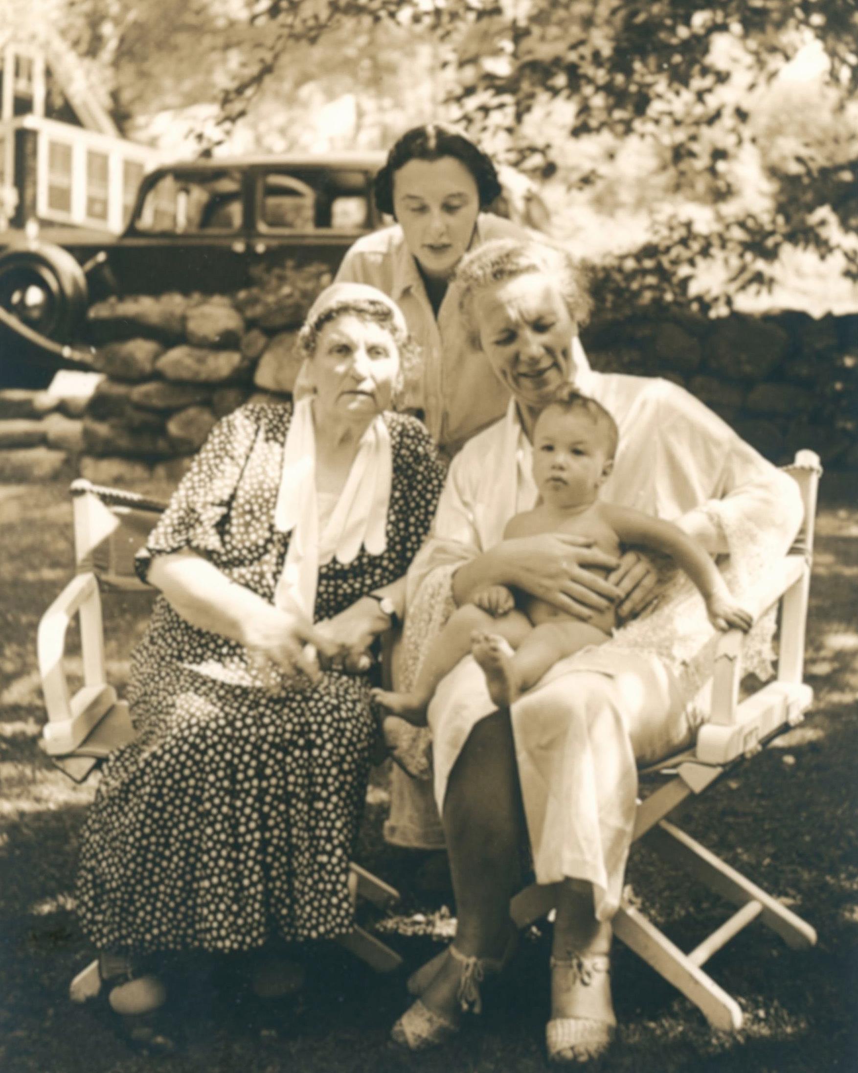 Four generations of first duaghers, 1936 Katherine Luboshutz, Lea Luboshutz, Irene Goldovsky Wolf, Alexandra Wolf.  Courtesy of the Luboshutz-Goldovssky-Wolf family archive.