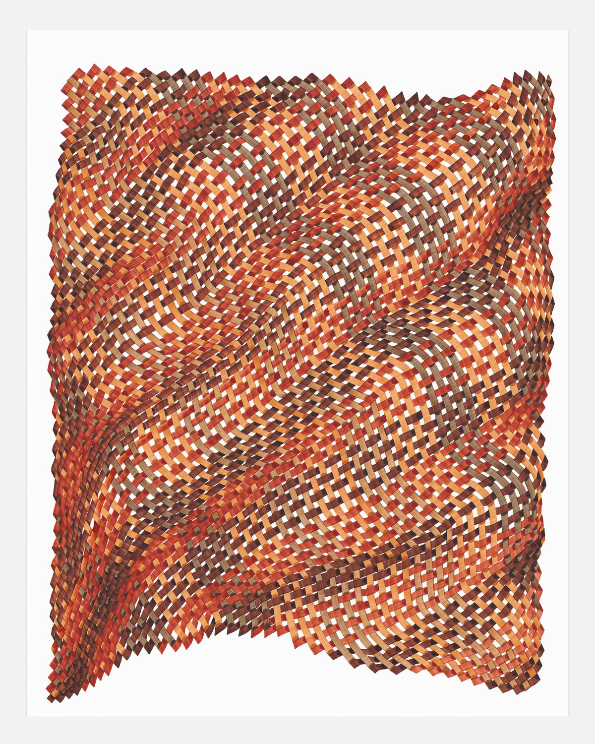 Woven Lines 27 ,  2019   acrylic on yupo heavy 14 x 11 in (35.56 x 27.9 cm)