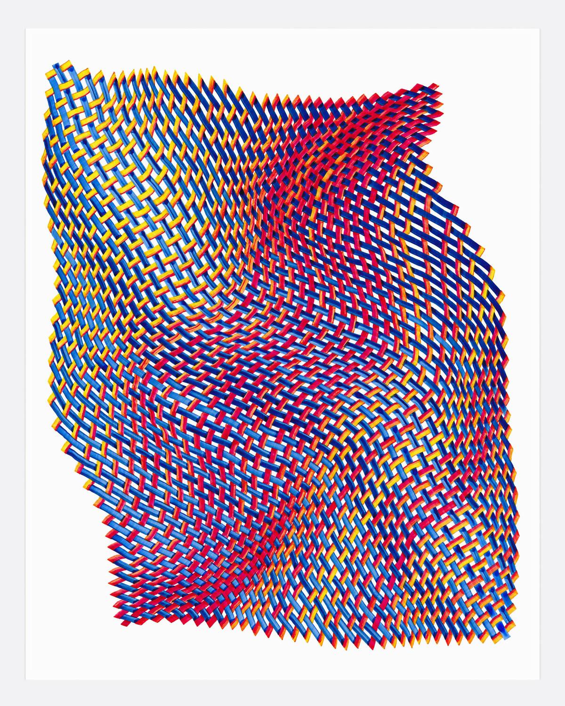 Woven Lines 31 ,  2019   acrylic on yupo heavy 14 x 11 in (35.56 x 27.9 cm)