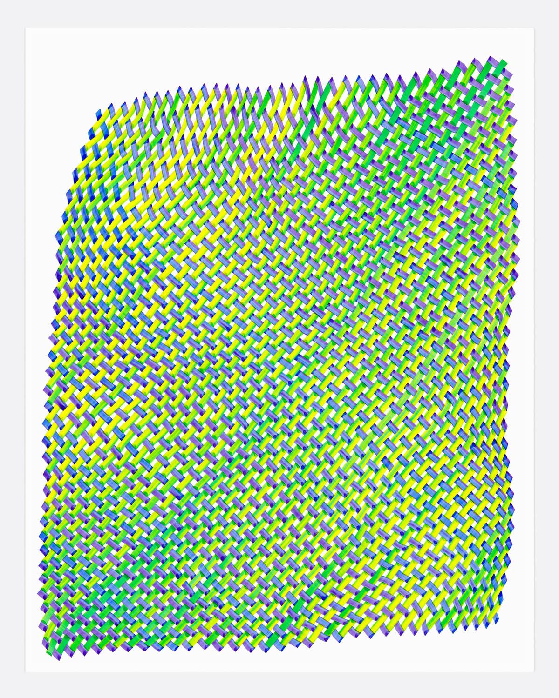 Woven Lines 33 ,  2019   acrylic on yupo heavy 14 x 11 in (35.56 x 27.9 cm)